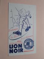 LION NOIR ( +/- 11,5 X 20,5 Cm. ) Buvard ( Voir Photo ) ! - Chaussures