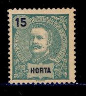 ! ! Horta - 1898 D. Carlos 15 R - Af. 27 - MLH - Horta