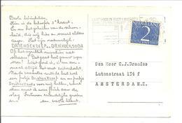 Direct-Mail. DRIEHOEKZEEP EN DRIEHOEKSODA Afb: VOLENDAM WASDAG . 2-éénheid! 25.8.50 - Periode 1949-1980 (Juliana)