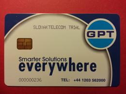 SLOVAQUIE GPT TEST Smart Everywhere SLOVAK TELECOM TRIAL N°000000236 (FA0718) - Slovaquie