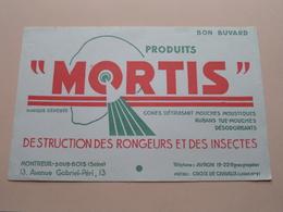 MORTIS ( +/- 13,5 X 21 Cm. ) Buvard ( Voir Photo ) ! - Produits Pharmaceutiques