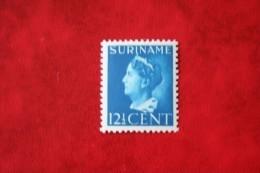 Koningin Wilhelmina 12 1/2 Cent NVPH Nr: 244 Mi 274 Yv  237 1946 MH / Ongebruikt SURINAME / SURINAM - Surinam ... - 1975