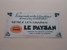 LE PAYSAN Graines ( +/- 10 X 20 Cm. ) Buvard Rullière Avignon ( Voir Photo ) ! - L