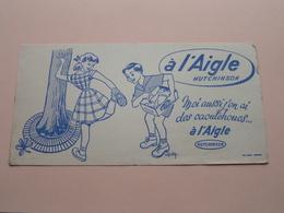 à L'Aigle Hutchinson ( +/- 10,5 X 21 Cm. ) Buvard Oller Puteaux ( Voir Photo ) ! - Chaussures
