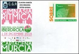 """Deportes : Sobre Prefranqueado De Gimnasia Rítmica Conmemorando La Fase Final De La 'Copa Iberdrola"""" En Cartagena - Enteros Postales"""