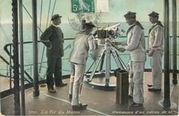 CPA La Vie Du Marin - Manœuvre D'un Canon De 47 M/m AQUA-PHOTO Paris Marine Armée Militaria Uniforme 1908 - Militaria