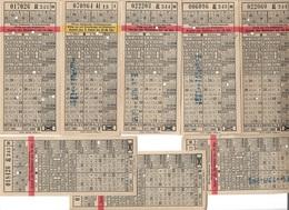 1609t: Wien, Vienne, Div. Fahrscheine Der Wiener Linien Um 1950 (?) - Tickets D'entrée