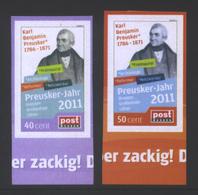 Deutschland PostModern 'Karl Preusker Bibliothekar Freimaurer' / Germany 'Karl Preusker Librarian Freemason' **/MNH 2011 - Franc-Maçonnerie