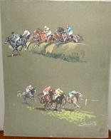 Peinture Originale Gouache Sur Canson De Gabriel LAMOTTE - Autres Collections