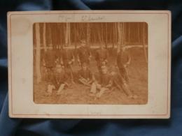 Photo Format Cabinet  Officiers Du 20e Chasseurs à Pied Dans Une Foret De Roumare Mars 1884 - L403 - Anciennes (Av. 1900)