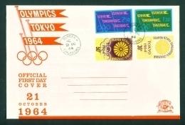 KENYA UGANDA AND TANGANYIKA  - 1964  Olympic Games Set On Official FDC  As Scan - Kenya, Uganda & Tanganyika