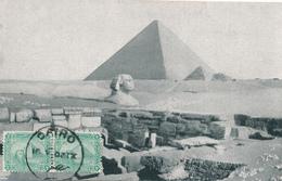 776/27 -  EGYPTOLOGIE CARTE MAXIMUM  - Carte- Vue Egypte TP Sphinx Et Pyramides CAIRO 1902 - Égypte