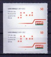 Deutschland PostModern 'Louis Braille, Blindenschrift' / Germany 'Louis Braille, Tactile Alphabet' **/MNH 2012 - Behinderungen