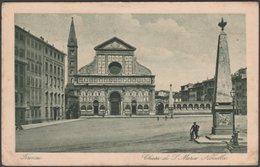 Chiesa Di Santa Maria Novella, Firenze, Toscana, 1925 - Sborgi Cartolina - Firenze (Florence)