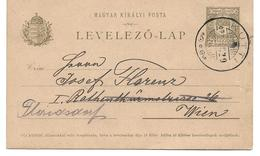 1609u: Stp. KUTTI Auf Alter Ungarischer Postkarte, Nächst Hohenau- Rabensburg In Der Heutigen Slowakei - Gänserndorf