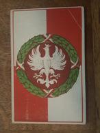 Drapeau De La Pologne? Aigle Blanc Dans Une Couronne Verte - Attention état Coin Haut Droit Cassé - Envoyé De Koblenz - Pologne