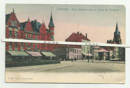 Oostende   *  Place Vanderzweep Et Eglise Du Hazegras - Oostende
