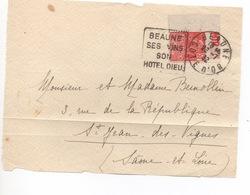 DAGUIN BEAUNE SES VINS SON HOTEL DIEU  1932   TIMBRE AVEC BANDE PUBLICITAIRE - Publicidad