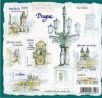 CAPITALES EUROPEENNES PRAGUE - Blocs & Feuillets