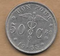 50 Centimes Albert I 1933 FR - 1909-1934: Albert I