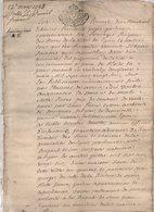 Acte Lyon 1728 De 16 Pages - Manuscrits