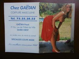 CALENDRIER EROTIQUE SEXY SEINS NUS 1981 COIFFURE GAETAN A CREST  DROME - Petit Format : 1981-90