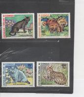 CONGO -Faune - Chats : Chesnut Havane, Persan Roux, Bleu Bretannique, Serval Africain - Félins - - Congo - Brazzaville
