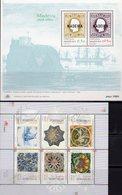 Azulejos 1999 Madeira Blocks 1+19 ** 13€ Museum Port Funchal Kunst Hoja Bloque Ships Blocs Art Ss Sheets M/s Bf Art - Madère