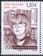 FRENCH ANDORRA, 2018, MNH,LIDIA ARMENGOL, WRITERS, HISTORIANS, 1v - Writers