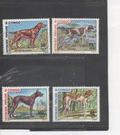 CONGO -Faune - Chiens : Setter Irlandais, Barzoï, Pointer, Grand Danois - Canins - - Congo - Brazzaville