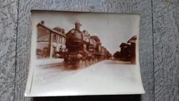 Photo Originale Locomotive Ten Wheil Vers 1909 Gare De Saint Pierre La Cour 53 - Trains