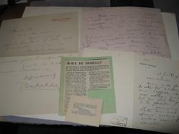 3 LETTRES AUTOGRAPHES SIGNEES D'EMILE DEHELLY 1907 A 1934 ACTEUR FILMS MUETS COMEDIE-FRANCAISE Au MIME WAGUE - Autographs