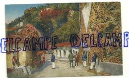Grimaldi-Vintimiglia. Ponte San Luigi. Frontière Italienne. R.M.. Carte Animée, Uniformes Français Et Italiens - Douane