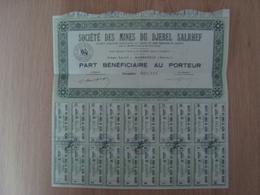 ACTION SOCIETE DES MINES DU DJEBEL SALRHEF - Mines