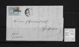 1854-1862 SITZENDE HELVETIA Ungezähnt (Strubel)  → Franco Zürich Nach Pfäffikon  SBK-23B/B1 - Covers & Documents