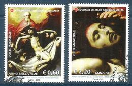 2012 ORDINE DI MALTA SMOM   De Ribera   Serie Completa Usata FDC Bellissima - Malte (Ordre De)