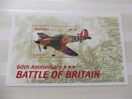 Maldives Bloc 462 / Blok War World 1940 - 1945 Neuf New ( Avion ) Guerre , Battle Of Britain, Vlug - Guerre Mondiale (Seconde)