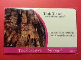 HUNGARY - 105 Db VISIT CARD Toth Tibor Barangolo Telefonkartya 50/17 - 2007 - MINT (FA0718) - Hongrie