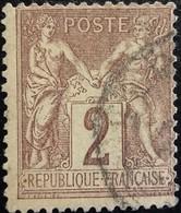 FRANCE Y&T N°85 Sage 2c. Brun-rouge. Oblitéré - 1876-1898 Sage (Type II)