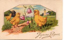 Illustrée : Poussins Aux Campanules - Pâques