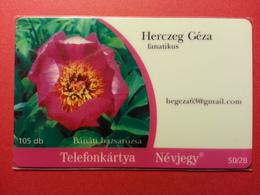 HUNGARY - 105 Db VISIT CARD Herczeg Géza Flower Banati Bazsarozsa Barangolo 50/16 - 2007 - MINT (FA0718) - Hongrie