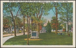 Battle Green And Pulpit Rock, Lexington, Massachusetts, C.1920 - United Art Co Postcard - Other