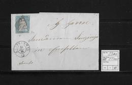 1854-1862 SITZENDE HELVETIA Ungezähnt (Strubel)  → Franko Rapperswil Nach Einsiedeln SBK-23Aa/A1 - 1854-1862 Helvetia (Non-dentelés)