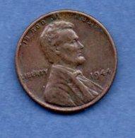 "USA  - 1 Cent 1944 -  Km "" A132   -  état  TTB - 1909-1958: Lincoln, Wheat Ears Reverse"