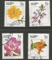 Thailand - 1989 Flowering Plants Used   Sc 1329-32 - Thailand