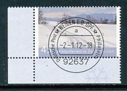 GERMANY Mi. Nr. 2904 Ferien In Deutschland - ET Weiden - Eckrand Unten Links - Used - [7] République Fédérale