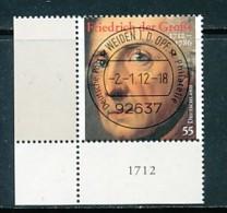 GERMANY Mi. Nr. 2906 300. Geburtstag Von Friedrich Dem Großen - ET Weiden - Eckrand Unten Links - Used - [7] République Fédérale