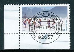 GERMANY Mi. Nr. 2912 Biathlon-Weltmeisterschaften, Ruhpolding - ET Weiden - Eckrand Unten Links - Used - [7] République Fédérale