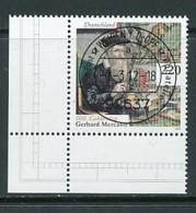 GERMANY Mi. Nr. 2918 500. Geburtstag Von Gerhard Mercator - ET Weiden - Eckrand Unten Links - Used - [7] République Fédérale
