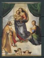 GERMANY Mi. Nr. Block 79 500 Jahre Sixtinische Madonna - ET Weiden -  Used - [7] République Fédérale